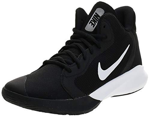 Nike Women's Precision III Basketball Shoe, Black/White, 11