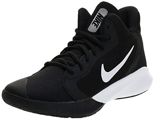 Nike Women's Precision III Basketball Shoe, Black/White, 10