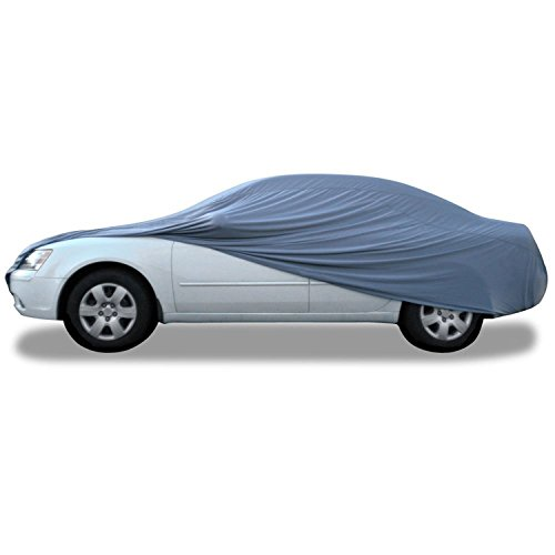 "Budge Indoor Stretch Car Cover, Luxury Indoor Protection, Soft Inner Lining, Breathable, Dustproof, Car Cover fits Cars up to 200"", Gray"