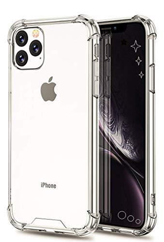 iPhone 11 Pro Clear Case 5.8 inch for Apple 2019 Shockproof & Hard Ultra Hybrid Protective Cover with Slim Comfort Grip and Transparent Wireless Charging Support