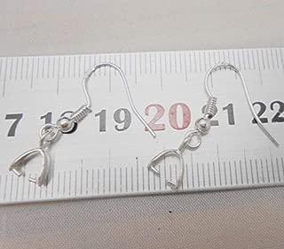 FidgetGear 20-100X Wholesale Findings 925 Sterling Silver French Hook Pinch Bail Ear Wires 100pcs