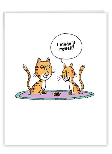 NobleWorks - Funny Mother's Day Greeting Card (8.5 x 11 Inch) - Jumbo Comic, Cartoon Humor for Mom - Made It Myself J0307