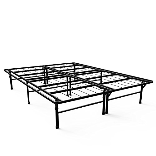 Zinus Gene 14 Inch Metal Deluxe SmartBase Mattress Foundation / Platform Bed Frame / Heavy Duty Steel Frame / Box Spring Replacement / Underbed Storage, Queen