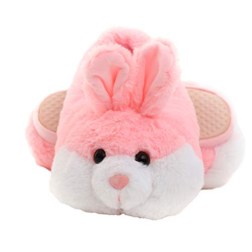 Millffy Bunny Slippers for Women Warm Funny Slippers House Shoes Rabbit Plush Slippers (US 5-7, Pink Bunny)