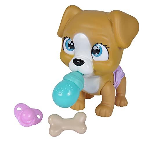 Simba 105953050 – Pamper Petz Hund, mit Trink- und Nässfunktion, Spielzeughund für Kinder ab 3 Jahren, Welpe zum Spielen, mit Überraschung und magischer Pfote