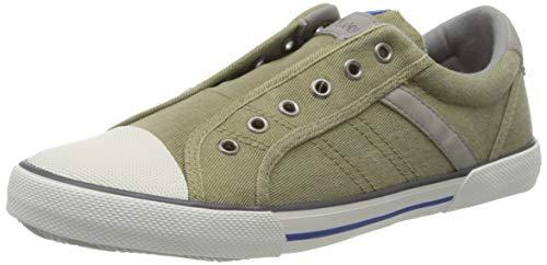 s.Oliver Jungen 5-5-44105-34 Slip On Sneaker, Grün (Khaki Comb 721), 38 EU