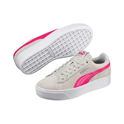 Puma Vikky Platform Jr grijs roze sneakers kids
