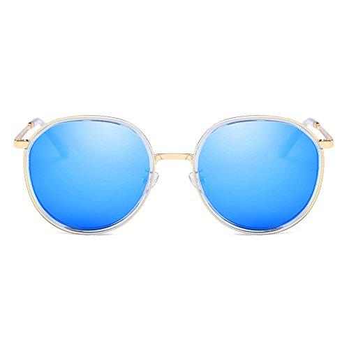 Cyxus Retro zonnebril, gepolariseerd, dameszonnebril, rond, metalen frame, retro, onmisbaar voor strandreizen, vissen, reizen