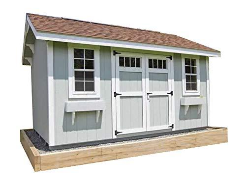 Saltbox Roof Storage Shed Plans DIY Backyard Garden Shed Barn Building 10'x20'