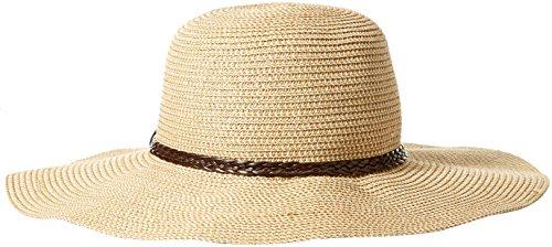 SunLily Damen Sun Hat,Brown and Roll-n-go Sonnenhut,Braun und Beige, Einheitsgröße