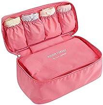 Go2buy Waterproof Portable Protect Bra Underwear Lingerie Case Travel Organizer Bag (Peach Red)