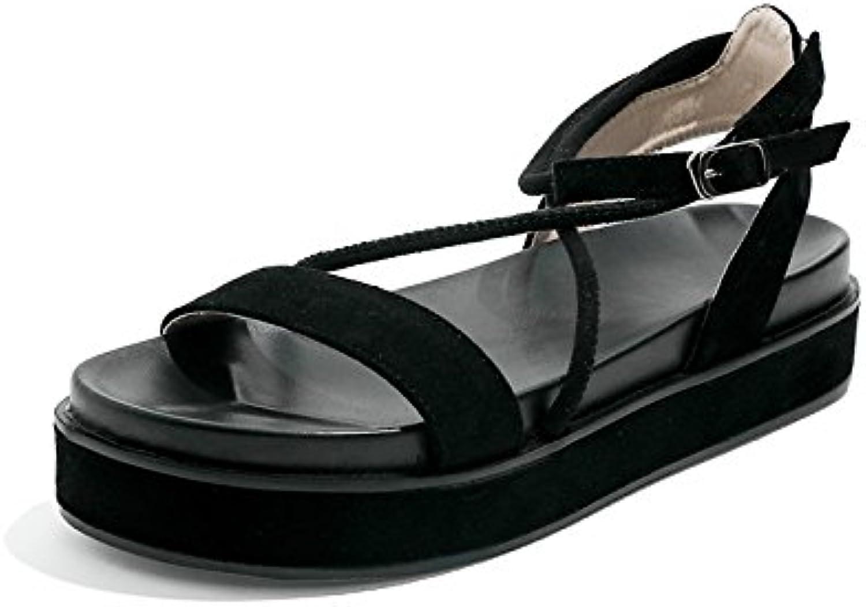 YMFIE Flache Sandalen Damen Sommer mit Offenen Zehen Rutschfeste Sandalen