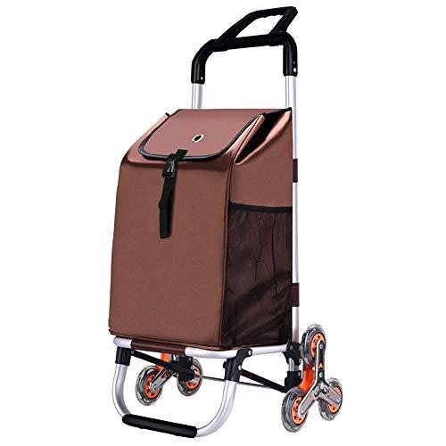 BFQY FH Falt- Und Kletternder Einkaufswagen, Einkaufswagen, Zugwagen/Wagen/Trolley/Gepäckwagen Anhänger (Farbe : D)