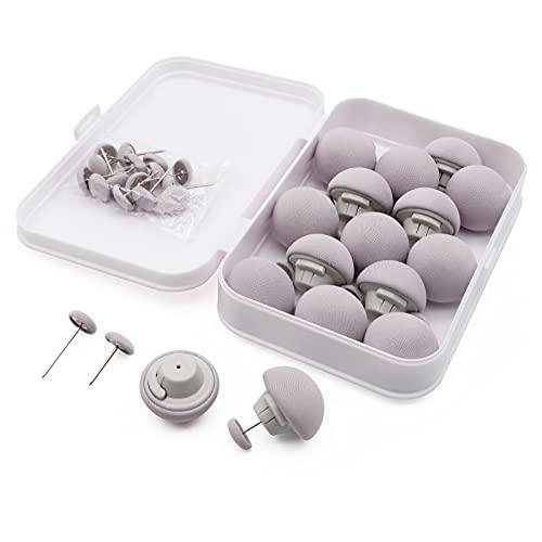 MQUPIN Clips de fijación para colcha, 16 clips para funda de edredón, clips de fijación redondos de seta con botones, soporte de fijación de edredón para dormitorio, con caja (gris)