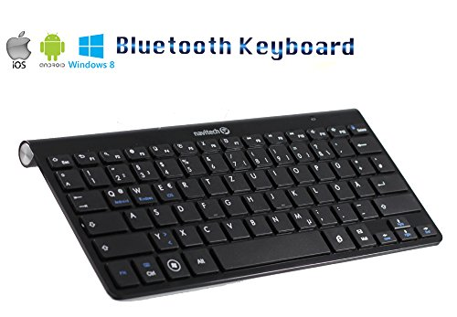 Navitech Schwarz Wireless Bluetooth Keyboard / Tastatur kompatibel mit dem Android & Windows Smartphones sowie kompatibel mit dem Trekstor Surftab Wintron 10.1 / Trekstor Surftab Xintron 10.1 Tablet