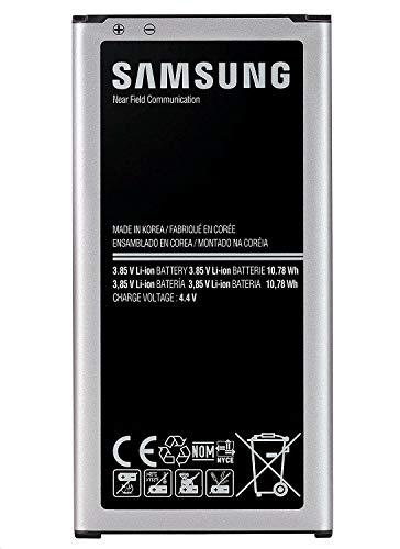 wortek Akku-Set, Samsung Akku Galaxy S5 EB-BG900BBE Ersatzakku Ersatzbatterie 2800mAh Lithium-Ionen Li-ion Battery Ersatz für Wechsel und Austausch bei defekter Batterie Displayputztuch