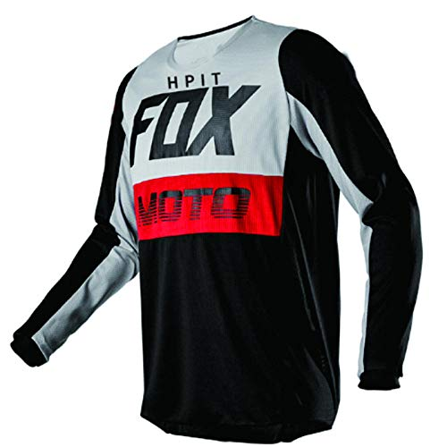 LGGJJYHMY camisetas de plumón para hombre hpit fox mountain bike MTB camisetas Offroad DH Jersey Motocross ropa deportiva-M