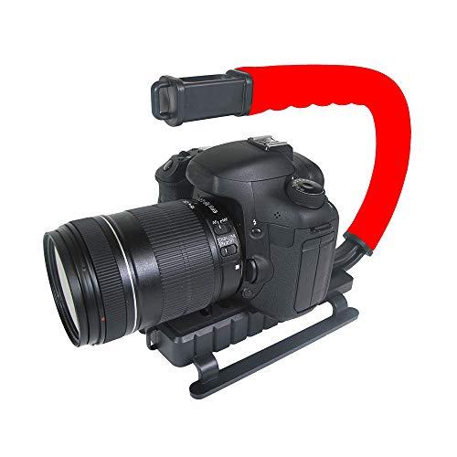 Grip e Estabilizador de Mão para Filmar Esportes de Ação com Câmera DSLR Vídeo, Vivitar, Vermelho