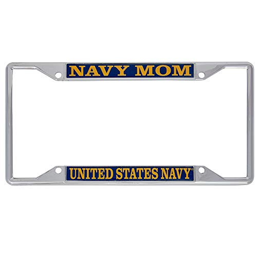 Desert Cactus US Navy Mom License Plate Frame for Front or Back of Car Officially Licensed United States