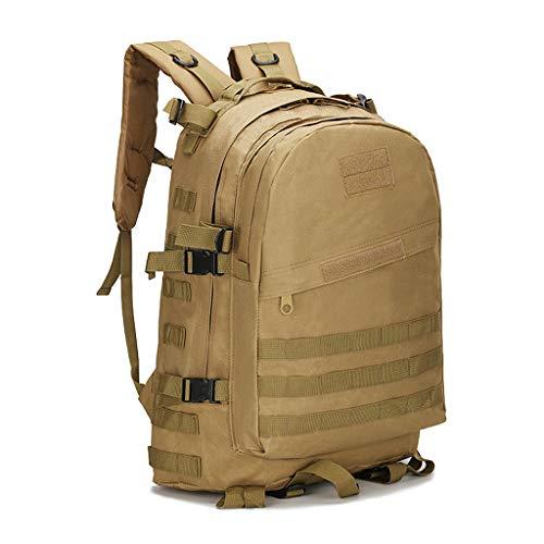 YHHXオックスフォード布バックパック、3Dリュックアウトドアアドベンチャー戦術迷彩バックパックアウトドア小型防水バックパックレトロなバックパック迷彩戦術的なバックパッククライミングバッグスクールバッグ,カーキ