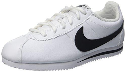 Nike Nike Unisex Cortez (GS) Sneaker, Weiß (White/Black), 39 EU