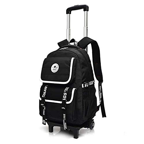 Luggage Cart Trolley Backpack, 2-Wheel Large-Capacity Suitcase, Suitable for Children's Men and Women Travel and Work Rolling Trolley Bag (Color : B)