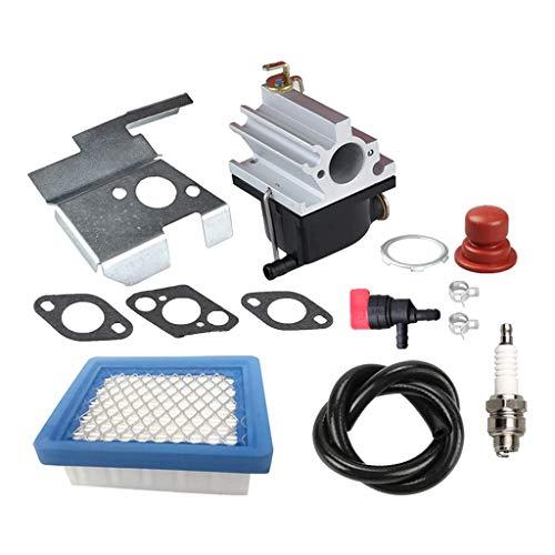 Buwei 640020 Vergaser + Luftfilter-Einstellsatz für Tecumseh 640020A 640020B VLV126 VLV60 VLV50 VLV55 VLV65 VLV66 VLV126A 6,5 PS 6,75 PS Motor-Rasenmäher