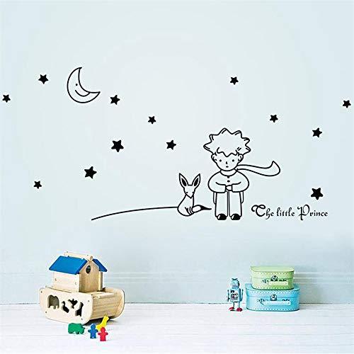 libro Cuento de hadas El Principito con Fox Moon Star Etiqueta de la pared para niños Habitaciones para bebés Decoración del hogar Regalo infantil Pared
