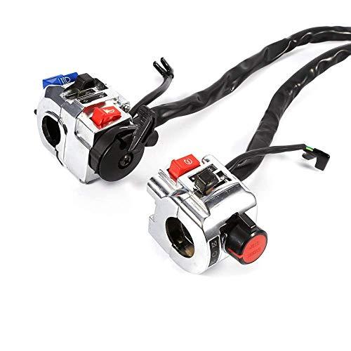 1 par motocicleta interruptor 7/8 'manillar control cuerno señal giro luz inicio interruptor aluminio JoinBuy.R