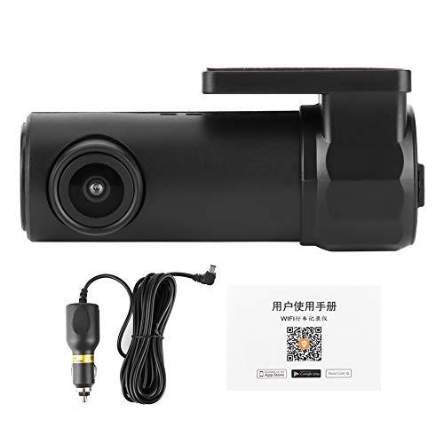 Grabadora de conducción, videocámara DVR de Coche WiFi 1080P 170 ° FHD Lente Dash CAM Grabadora de vídeo Cámara de conducción App Grabación en Bucle