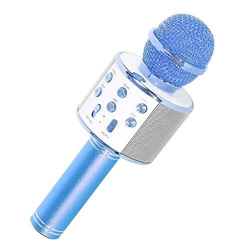 SaponinTree Microfono Karaoke Bluetooth, Wireless Bambini Portatile Karaoke Microfono con Altoparlante per Cantare, Compatibile con Android/iOS o Smartphone