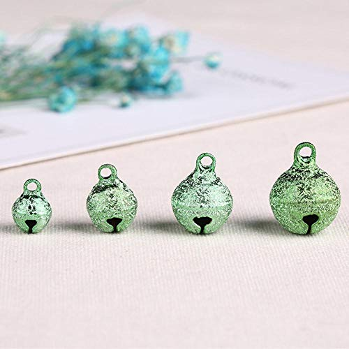 50st kerst jingle bell festival feestdecoratie/kerstboomgordijnen kleur kleine belletjes diy jingle bells voor ambachten cadeau, groen, 8mm