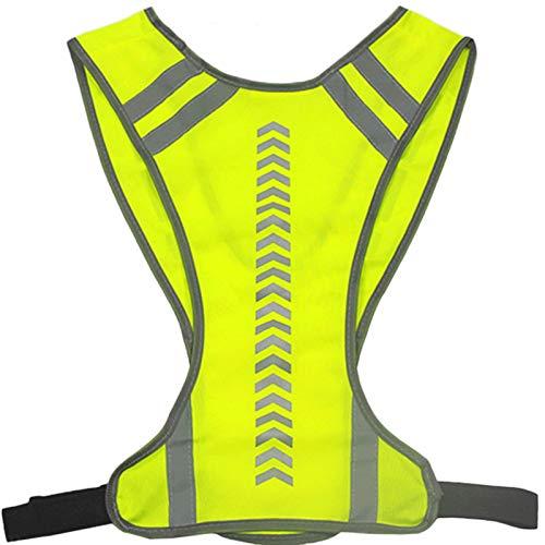 ZJY Chaleco Reflectante con Seguridad de la Seguridad de la Seguridad del Bolsillo Chaleco Deportivo para la Noche al Aire Libre Montando para Correr Ciclismo de Ciclismo Caminar (Color : Yellow)