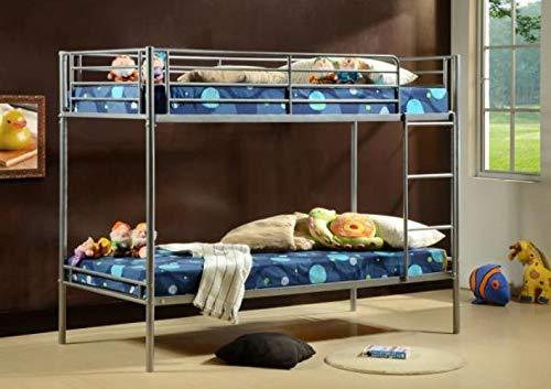 Comfy Living 3ft Saffron Single Twin Sleeper Bunk Bed Metal