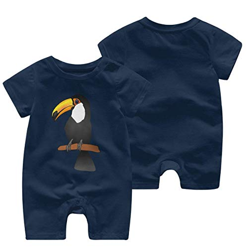 Zuid-Amerika Tropische Regen Bos Vogel Baby Meisje Korte Mouw Romper Jumpsuit Babykleding 0-24 Maanden