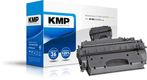 KMP Toner für HP Laserjet P 2055 - Druckkartusche Schwarz - Kompatibel - Tonerkartusche für HP 05X - Office Druckerkartusche