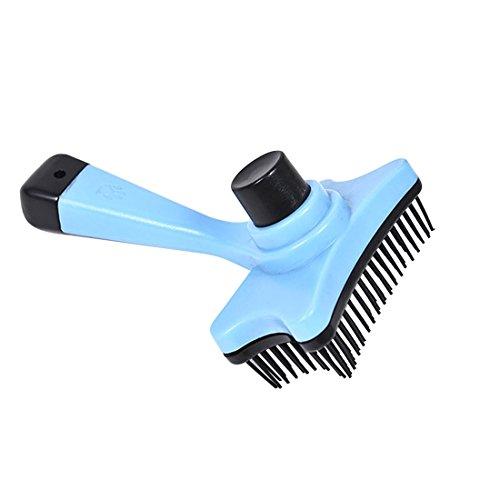 Tuzi Qiuge Pet Grooming Zupfbürste, weiche Haustier-Bürsten-Kamm for Hunde und Katzen mit Langen oder kurzen Haar, Pet Supplies (Color : Blue)