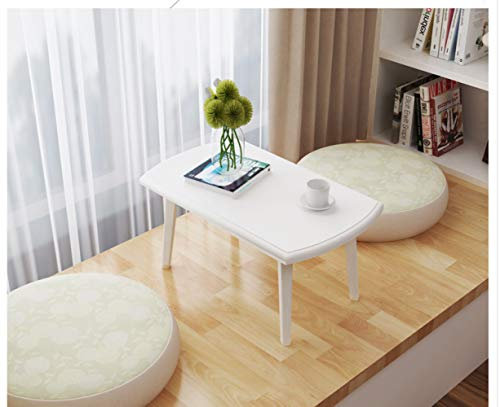 NA moderne minimalistische koffietafel, creatieve Tatami kleine theetafel, multifunctionele inklapbare theepot, mini luie tafel, wit, 60 cm