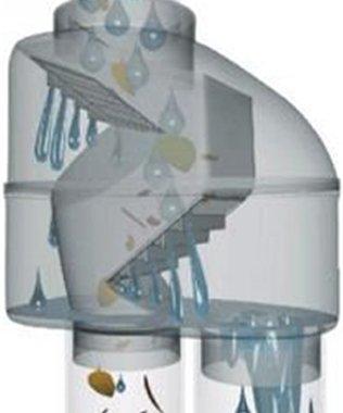 REGENSAMMLER FALLROHR-FILTER REGENTONNEN-FÜLLAUTOMAT Z 100 grau – Regenwasserfilter in selbstreinigender Bauart mit Edelstahl-Sieb und 100-125mm-Universal-Anschluss für Profi-Regenwassernutzung
