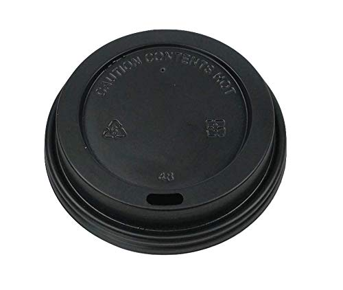 Signature Ripple Hot Cup Lids - Disposable Coffee Cups Lids for Takeaway Drinks - 100 Pack Leak Proof Lids for Hot Drinks (12oz / 16oz)