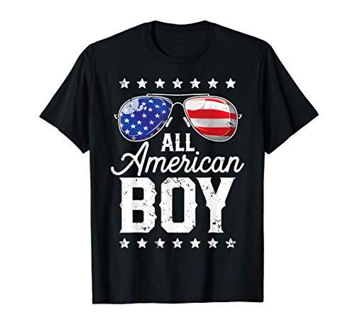 All American Boy 4th of July T shirt Boys Kids Sunglasses T-Shirt