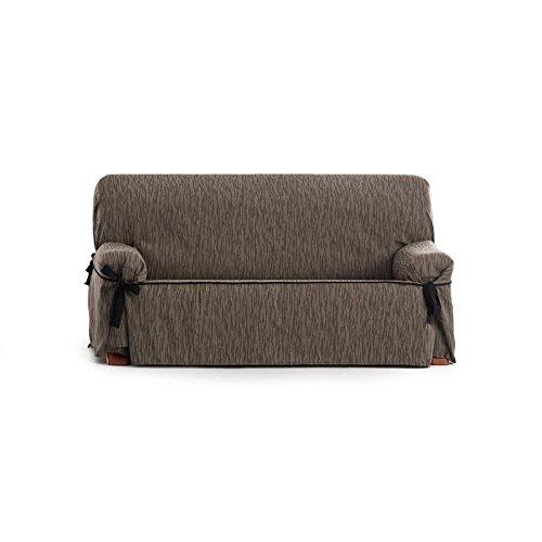 Eysa - Funda de sofá Universal Indico 3 plazas con Lazos - Color marrón Claro