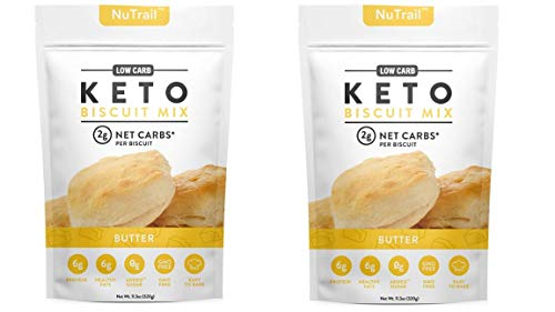Low Karb - Keto Biscuits Mix - Low Carb Food - Easy to Bake - Perfect for Breakfast - Only 2g Net Carbs (Butter) (11.35 oz) (Blueberry) 2-Pack