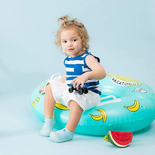 [Attipas]アティパスベビーシューズ軽量ひんやり水遊び・プール遊びもOK[CoolSummerクールサマー]L(12.5cm)ブルー/かわいいベビーシューズ滑り止め公園遊び出産祝いプレゼントあんよの練習保育園靴ソックスシューズプレシューズ