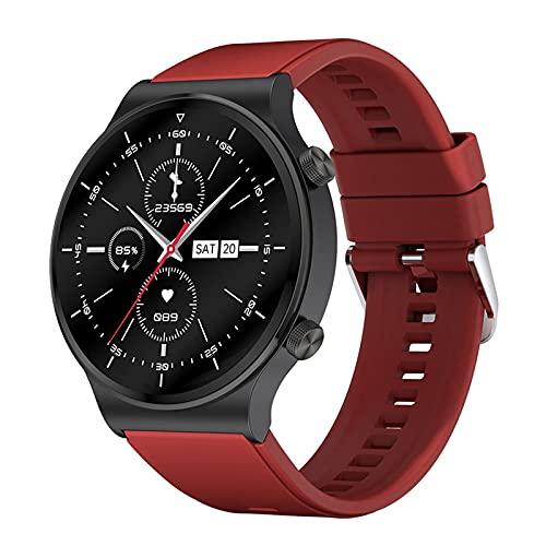 Rvlaugoaa Bluetooth Smart Watch 1.3 Pulgadas Full Touch Pulsera Inteligente Podómetro Salud Fitness Tracker Pulsera Deportiva IP68 Reloj Inteligente A Prueba De Agua para Teléfonos Android iOS,C