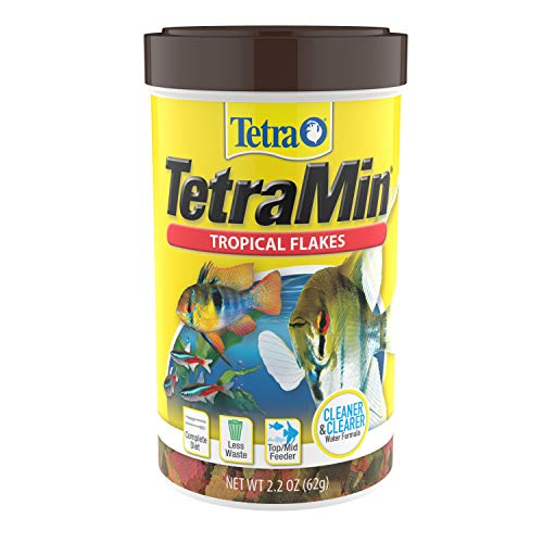 Tetra TetraMin Tropical Flakes 2.2 Ounces, Nutritionally Balanced Fish Food, Model Number: 46798771043
