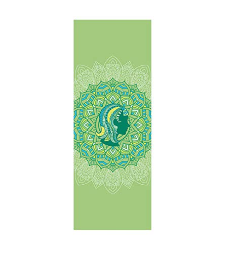 AGAGRG Esterilla de yoga con estampado Virgo, antideslizante, de 6 mm de grosor, unisex, para gimnasio, fitness, pilates, aeróbico, yoga caliente