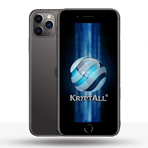 Kryptall Black 128GB Factory Unlocked Encrypted Smartphone 12 Pro Max Series, Works Worldwide, Anti-