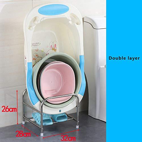ZCXBHD meerlaags badkamerrek van roestvrij staal voor wastafel met vierkant frame