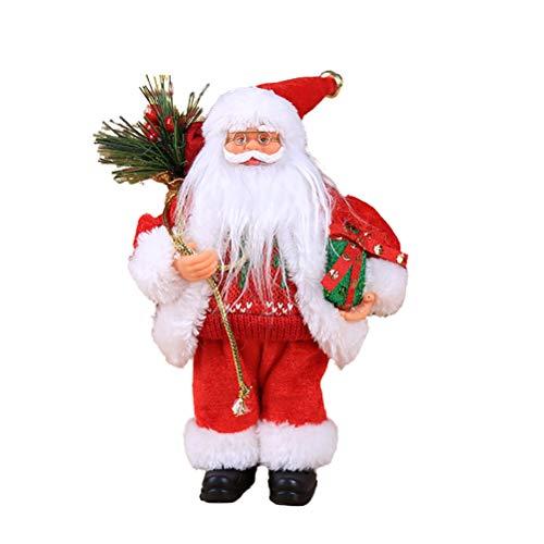 Kappha Weihnachtsmann Puppe Weihnachtsdeko Figur Nette Weihnachtsmann Spielzeug Weihnachtsdekoration, 30X12cm
